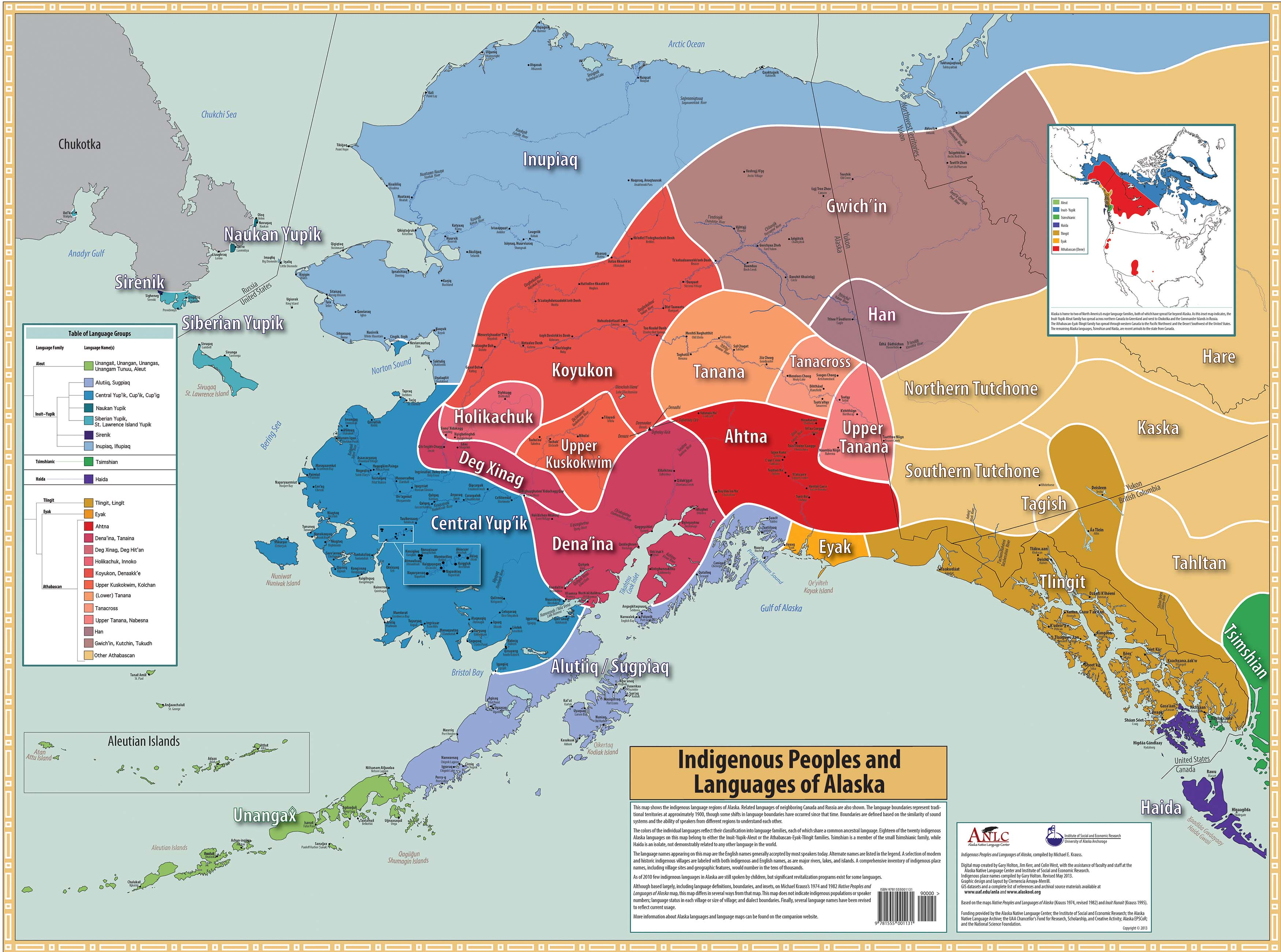 Map of the Languages of Alaska's Indigenous People