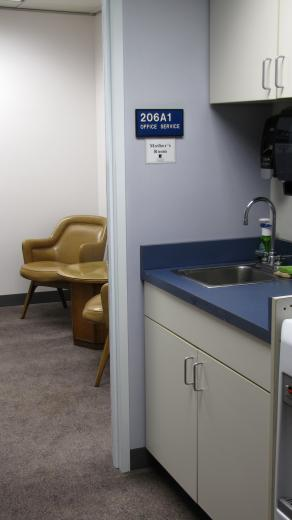 Picture of hall and lactation room .