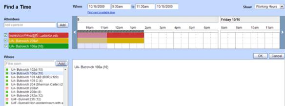 Time availability example picture