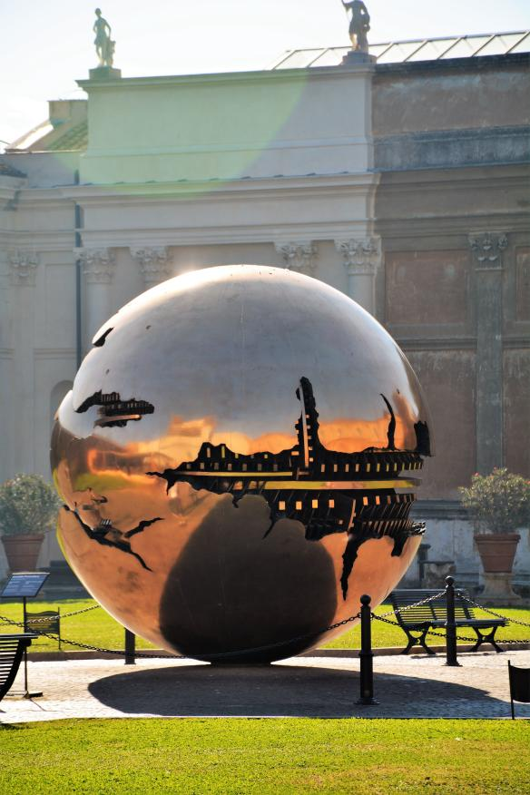 Sphere within a Sphere statue