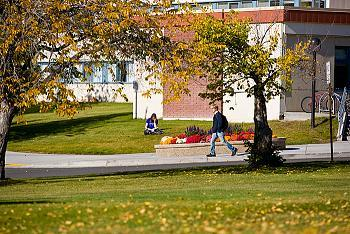 Image of students on UAF campus
