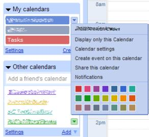 Calendar settings example picture
