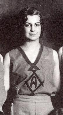 Helen Linck (Atkinson) pictured as part of the 1931-1932 Alaska Agricultural College and School of Mines' women's baskeball team. Photo: UAF Archives, Frank Pettygrove Collection