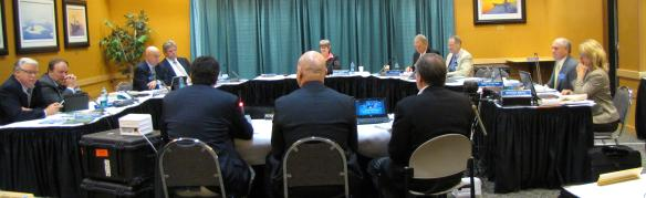 Jacobson sits as chair at a Board of Regents meeting in June.
