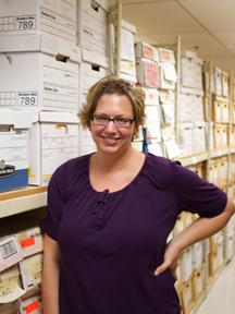 Statewide Records Coordinator Sue Anne Denny manages paper records and mircofilm and mircofiche.