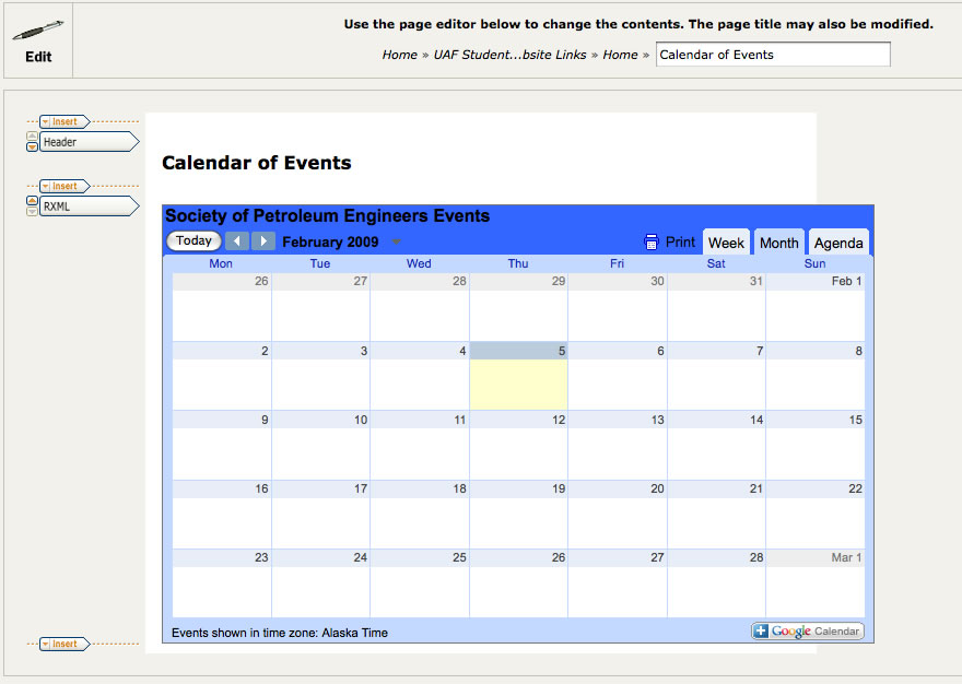Editable Calendar Html Code : Adding google calendar to your website office of