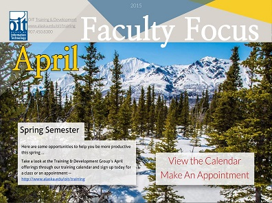April Faculty Training Opportunities