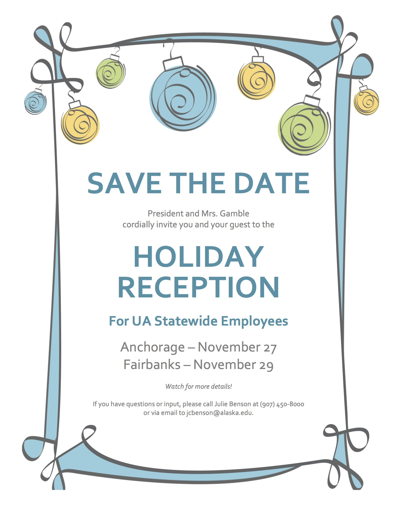 Announcements Voice - Holiday save the date templates free