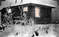 The house LarVern keys had lived in before moving into the apartment above the power plant. Photo: University of Alaska Archives, LarVern keys Collection