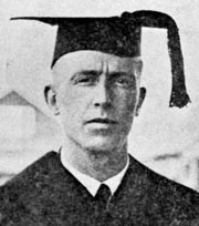 Portrait of John Shanly at graduation in June, 1923. Photo: UAF Archives, University Relations Collection