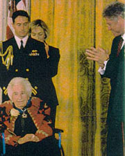In 1998, at the age of 96, Mardy Murie received the Presidential Medal of Freedom from President Clinton.