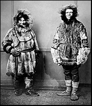 Mardy and Olaus on their return from their honeymoon exploring the Alaskan wilderness in midwinter, 1925. Photo: U.S. Fish and Wildlife Service