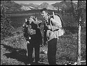 The Muries backpacking in Alaska in 1956.