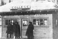 The College Station for the train. Photo: University of Alaska Archives, LarVern Keys Collection