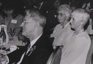 Photo taken at farewell banquet, June 1990. UA Public Affairs photo.