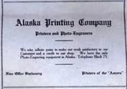 Alaska Printing Company business card/sign