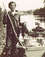 Hunting ducks on the Chena River. Photo: Atkinson Collection